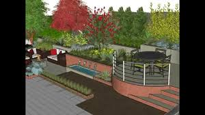 Small Picture Garden Design SketchUp Animation YouTube
