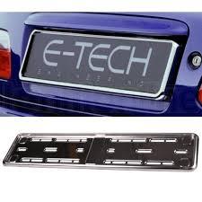 Number Plate Frame Design Details About E Tech Stainless Steel Car Registration Number Plate Holder Surround Frame