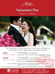 valentine s day at legend hotel saigon feb 14