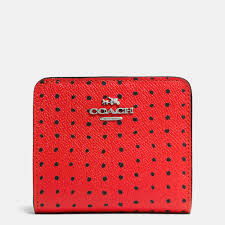 Lyst - Coach Small Wallet In Printed Crossgrain Leather in Red