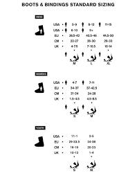 Ride Binding Size Chart 67 Proper Ride Binding Size Chart