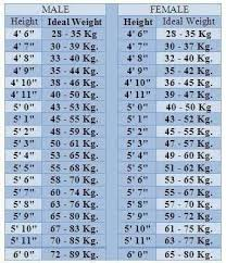 Check Height And Weight Chart Know How Much U Should Weigh According To The Height