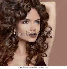 Hairstyle For Curly hairstyle curly hair beauty makeup fashion stock photo 691117837 1533 by stevesalt.us
