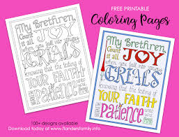 Download 10,276 coloring pages free vectors. Count It All Joy Coloring Page Flanders Family Homelife