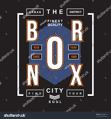 Vintage Graphic Design Ideas Bronx Vintage Typography T Shirt Design Stock Vector