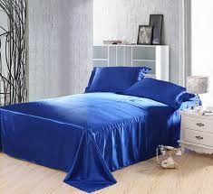 royal blue duvet covers bedding set silk satin california king size queen full twin double ed bed sheet bedspread doona 5pcs in bedding sets from home
