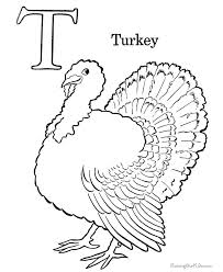 Coloring Turkey Page Free Turkey Coloring Pages Free Preschool