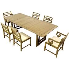 oriental modern furniture. mid century oriental modern dining table set with six chairs on heavy base 1 furniture g