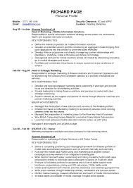 resume personal profile examples examples of resumes