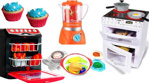 Toy Kitchen With Lights And Sound Toy Kitchen Electric Light Sound Oven Cooking Baking Play Doh Food Velcro Vegetables Fruit