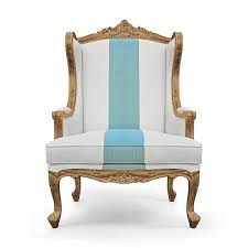 desk chair wood. French Wing Back Chair In Cream And Gold Color Cotton Poly Mix Fabric Front Desk Wood