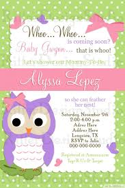 ... Colorful Owl Baby Girl Shower Invitation Free Printable Owl Baby Shower  Invitations Green White Polka Dot ...