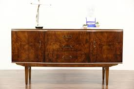 Art Deco 1940's Vintage Burl Sideboard, Server, Buffet or Bar Cabinet, ...