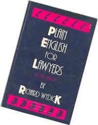 Image result for plain english for lawyers