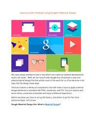 Material Design Lite Pdf Ppt How To Build A Website Using Googles Material Design