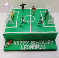 Football Pitch Birthday Cake Birthday Cakes Cakes For Children
