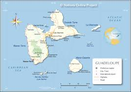 map of guadeloupe  nations online project