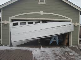 garage doors off track