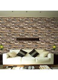 Brick Pattern Glue Wallpaper ...