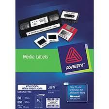 Avery 936043 Video Spine Label Inkjet J8674 Pack 50
