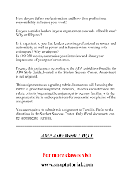 Amp 450v Week 1 Assignment Interview A Person In A Formal Position