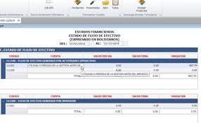 Estado De Flujo De Efectivo En Excel Bolivia Impuestos Blog