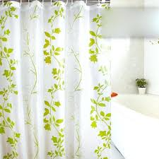 green and white shower curtain green leaf white waterproof shower curtain loading zoom green grey and