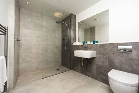 grey bathroom shower design