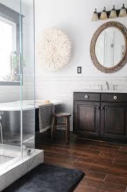wood tile flooring in bathroom. Beautiful Wood Final Master Bathroom Pics  Dark Wood Tile White Subway W Grey Grout  New Stain On Vanity Creativehomebodycom In Wood Tile Flooring K