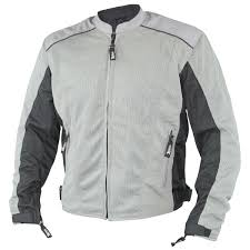 xelement men s meridian siver gray tri tex mesh armored motorcycle jacket freds cycle parts and stuff