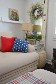 Red And Blue Living Room Decor Patriotic Summer Cottage Living Room