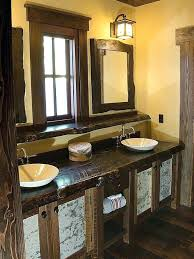 Rustic Double Sink Vanity Rustic Double Vanity Rustic Bathroom