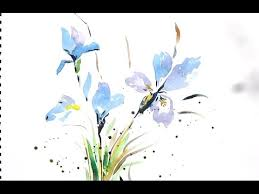 easy flower painting with watercolor