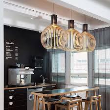 indoor lighting design. scandinavian decor cage wooden wood suspension lights for dining room bar indoor lighting restaurant hotel design