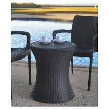 cool bar furniture. pacific cool bar rattan style patio beverage cooler table brown keter furniture b