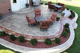 stamped concrete patio design