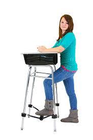 com standing desk conversion kit for student desk leg extension 24 long 1 diameter office s