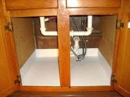 sensational under sink drain pan sink ideas under sink cabinet drip pan