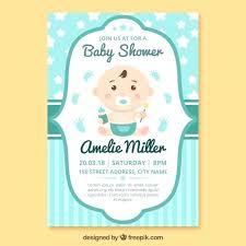 Plantillas Baby Shower Plantilla De Invitacian A Vector Gratis