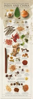Herb And Spice Wall Chart Spices And Culinary Herbs Of India And China Wall Chart Poster By Tim Ziegler And Brian Keating American Image