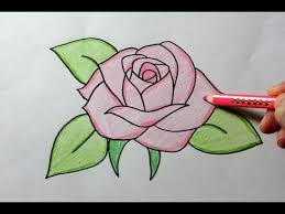 Easy To Draw Roses Drawing A Rose Youtube
