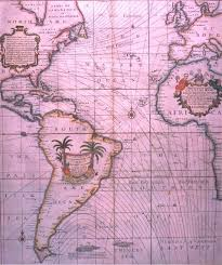 Magnetic Declination Chart Halleys 1701 Original Map Of Magnetic Declination Over