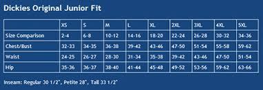 Dickies Size Chart Women S Pants Dickies Original Junior Fit Flare Leg Pant For Women 851206