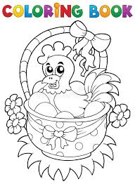 coloring book with easter theme 8 stock vector ilration of beak draw