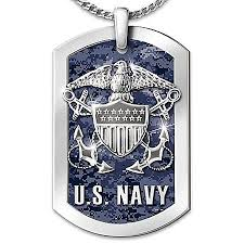 navy pendants engraved dog tags