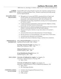 Nursing Resume Samples Experienced Nurse Resume Examples
