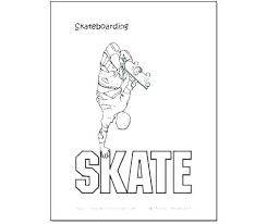 Skateboard Coloring Pages Design Your Own Skateboard Coloring Page