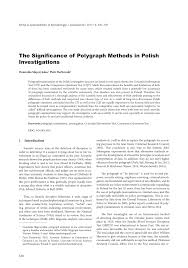 Chart Marking In Polygraph Pdf The Significance Of Polygraph Methods In Polish