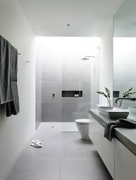 simple white bathrooms. Moody Grey And White Bathroom By Australian (canny Architects) On The Page Of Filled With Plenty Light. Simplicity Minimalist All In One. Simple Bathrooms