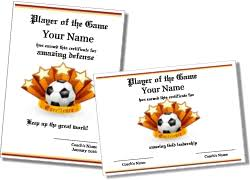 soccer awards templates free printable soccer certificates and soccer award templates